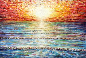 Large Sunset Painting