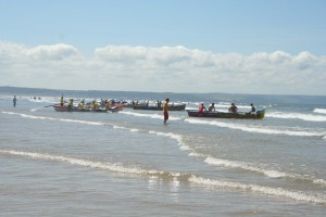 Gig Racing at Saunton Beach near Braunton