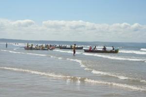 Gig Racing at Saunton Beach near Braunton