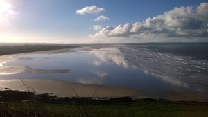view from Saunton Sands Hotel and B3231