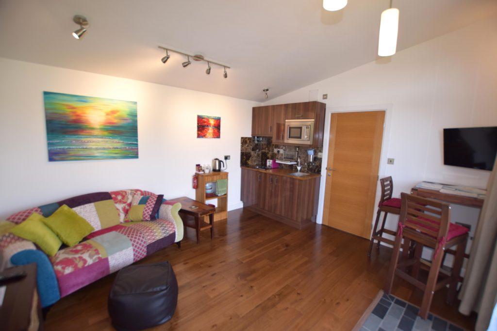 Lodge 1 Lounge and kitchen area