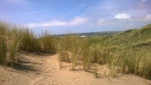 In the Dunes view over to Saunton Sands Hotel