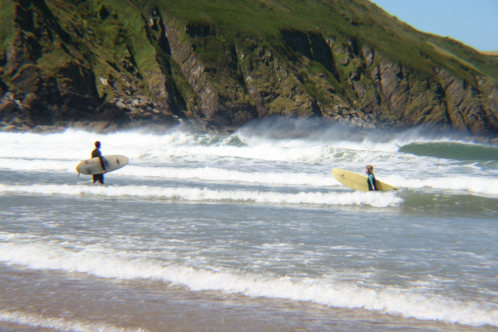Putsborough surfing