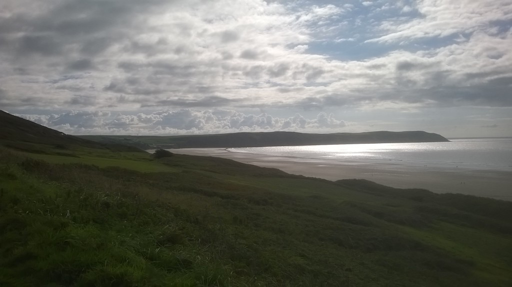 Putsborough to Woolacombe cycle ride at back of dunes